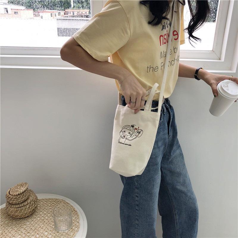 Túi vải đựng bình nước dưới 160k kiêm luôn phụ kiện xinh xẻo - Ảnh 10.