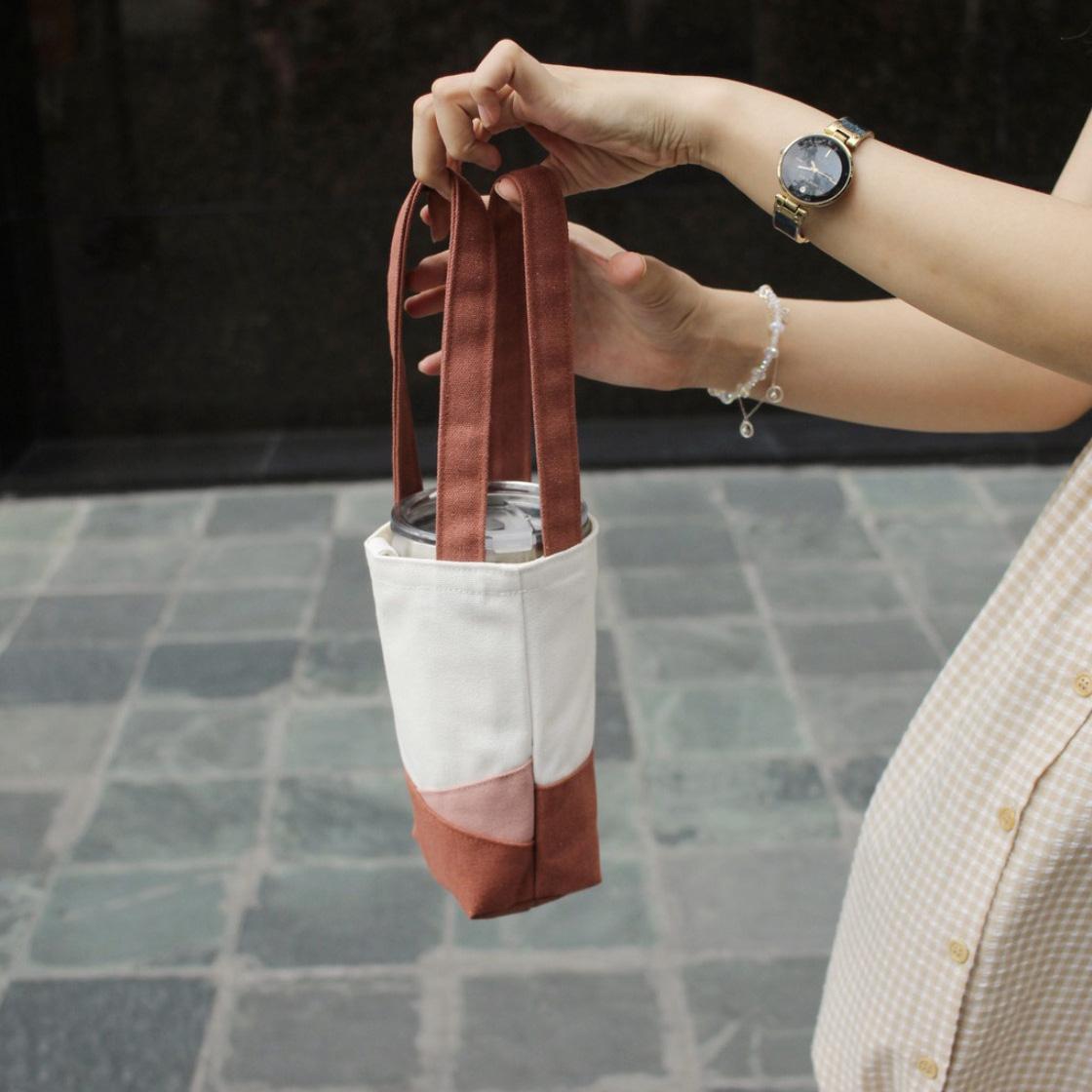 Túi vải đựng bình nước dưới 160k kiêm luôn phụ kiện xinh xẻo - Ảnh 5.