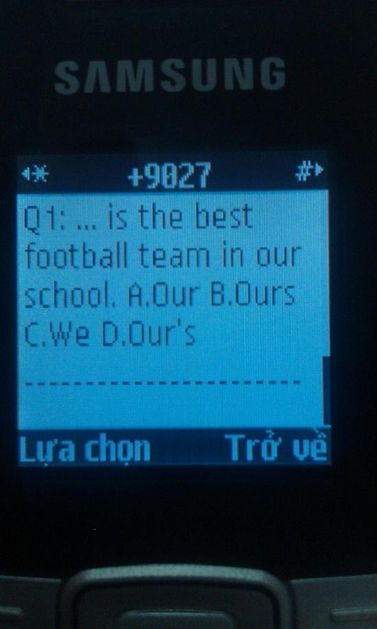 IOE – SMS: Học tiếng Anh mọi lúc mọi nơi 3