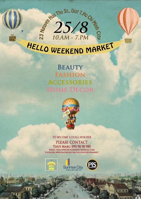 Bùng nổ chợ cuối tuần với Hello Weekend Market 1