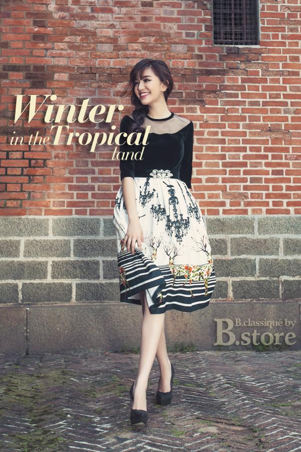 Ca sĩ Bích Phương tản mạn mùa Đông cùng B.Store 5