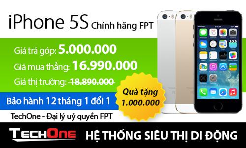 iPhone chính hãng FPT giảm giá mạnh tại TechOne 2