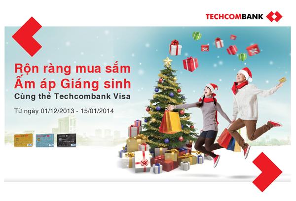 Rộn ràng quà tặng Giáng Sinh từ Techcombank