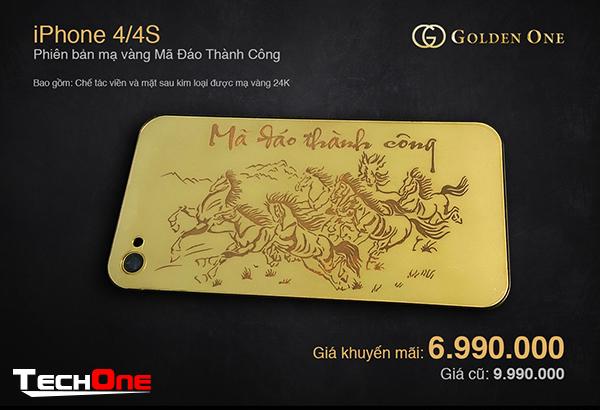 Cơn sốt iPhone mạ vàng 24K phiên bản