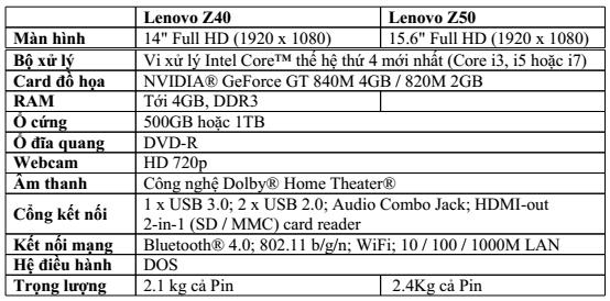 Lenovo Z40/Z50 Full HD: Mỏng nhẹ đầy mạnh mẽ 4
