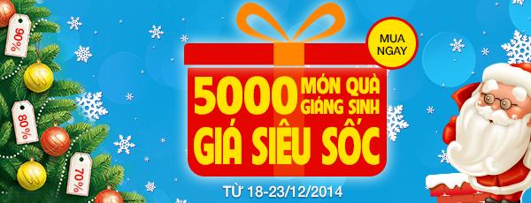 5.000 món quà Giáng sinh giá sốc từ Muachung.vn