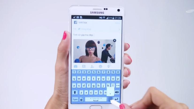 Cùng Hà Anh học bí kíp tiếp cận trai đẹp với Samsung Galaxy note 4 3