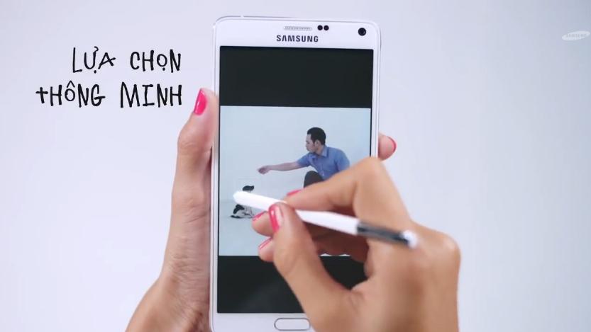 Cùng Hà Anh học bí kíp tiếp cận trai đẹp với Samsung Galaxy note 4 4