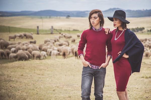 """Quán quân Mâu Thủy cùng Tấn Khang """"tình tứ"""" trong bộ ảnh thời trang ở Úc 1"""