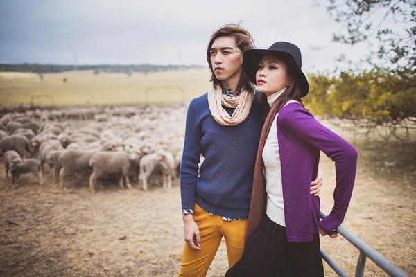 """Quán quân Mâu Thủy cùng Tấn Khang """"tình tứ"""" trong bộ ảnh thời trang ở Úc 3"""