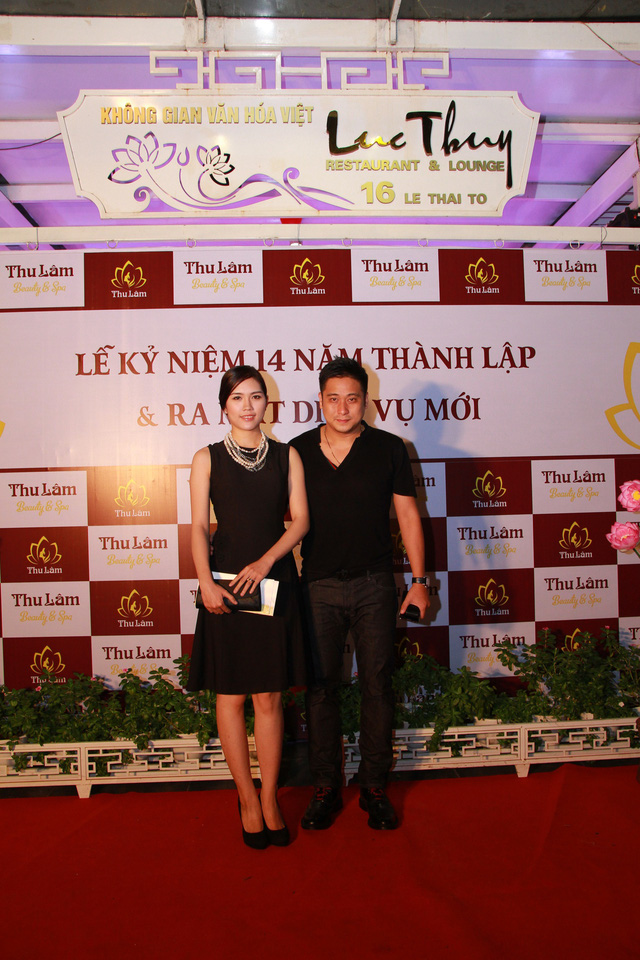 Vợ chồng Minh Tiệp tham dự lễ kỷ niệm 14 năm thành lập Thẩm mỹ viện Thu Lâm 3