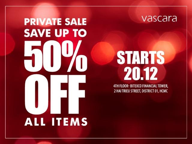 Vascara Private Sale – Cơ hội mua sắm thỏa thích