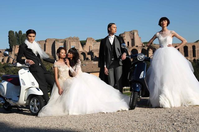 Top 5 Vietnam's Next Top Model 2014 bất ngờ hóa cô dâu chú rể 1