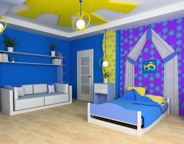 Trang trí phòng bé đẹp lung linh với chất liệu thạch cao 2