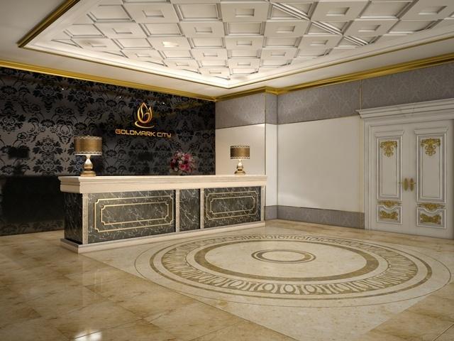 Phối cảnh sảnh căn hộ - tổ hợp căn hộ đẳng cấp Goldmark City, 136 Hồ Tùng Mậu, Hà Nôi.