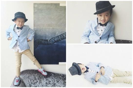 """Cậu bé cũng thường xuyên mặc những trang phục rất """"chất""""."""
