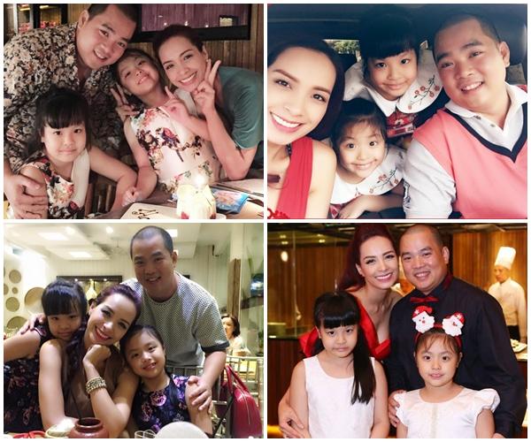 Gia đình Minh Khang – Thuý Hạnh cùng hai con gái Suli và Suti.