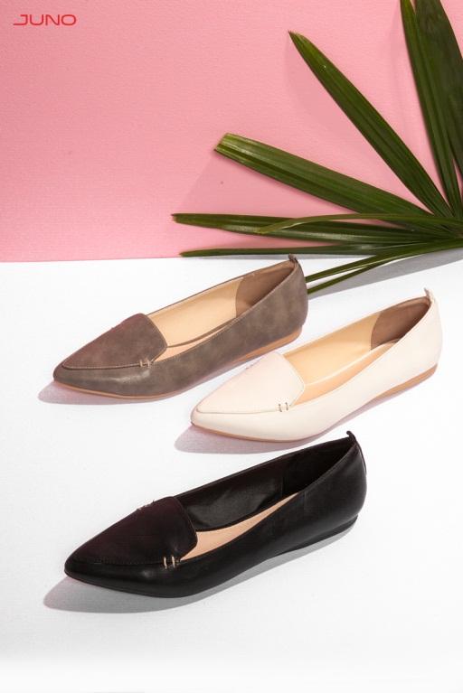 Đa phong cách thời trang với giày lười gót bệt