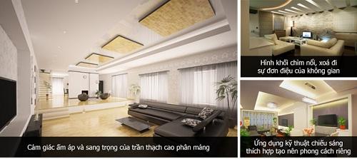 3 xu hướng thiết kế trần thạch cao phòng khách ấn tượng nhất năm 2014 (3)