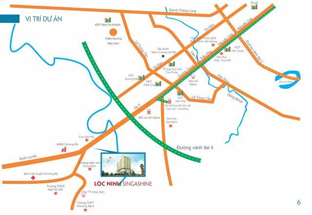 Vị trí dự án Lộc Ninh Singashine