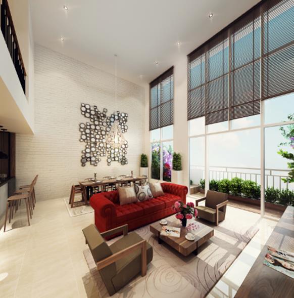 Căn hộ thông tầng - biệt thự trên cao siêu sang thuộc dự án The Krista của CapitaLand tại Việt Nam