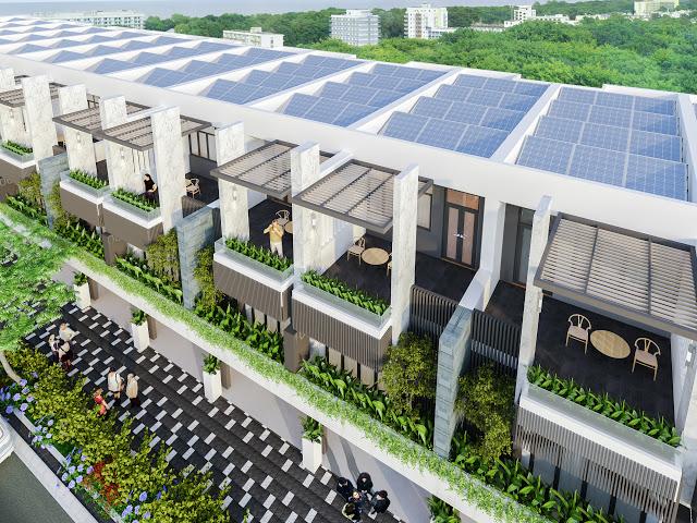 Thiết kế mỗi căn shophouse Ngô Quyền đều áp dụng giải pháp nhà ở thông minh – sử dụng năng lượng sạch