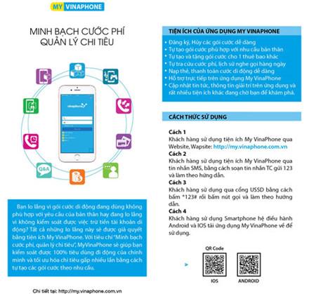 Ứng dụng My VinaPhone giúp người dùng minh bạch cước phí – quản lý chi tiêu