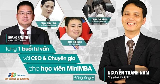 MiniMBA - tặng một buổi tư vấn miễn phí với CEO và chuyên gia giỏi