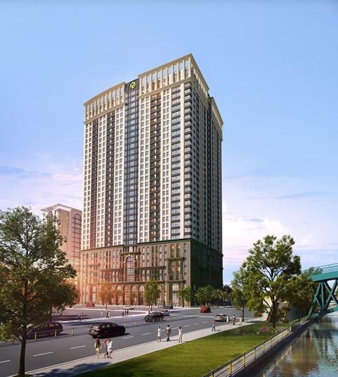 Phối cảnh dự án Sài Gòn Royal Residence – 34 – 35 Bến Vân Đồn, Q.4, TP.HCM