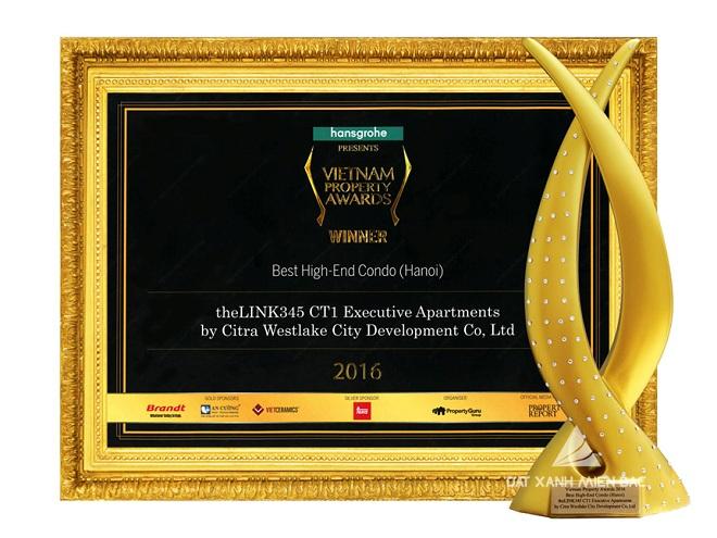 theLINK345 nhận giải nhất Khu căn hộ cao cấp tốt nhất Hà Nội-Giải thưởng Bất động sản năm 2016
