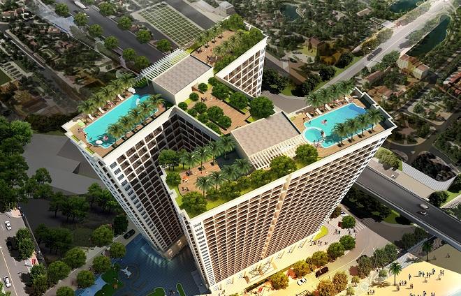Hoà Bình Green Đà Nẵng: Hấp dẫn khó cưỡng với bể bơi vô cực