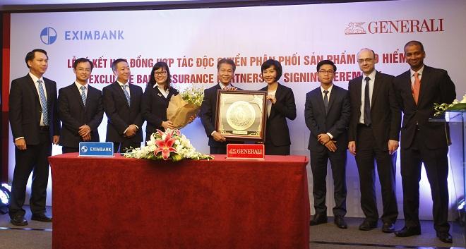 Bảo hiểm Generali Việt Nam độc quyền kinh doanh bảo hiểm qua ngân hàng Eximbank