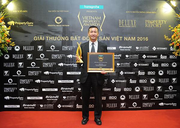 Celadon City đoạt giải thưởng Dự án căn hộ có kiến trúc cảnh quan đẹp nhất tại Vietnam Property Awards 2016.