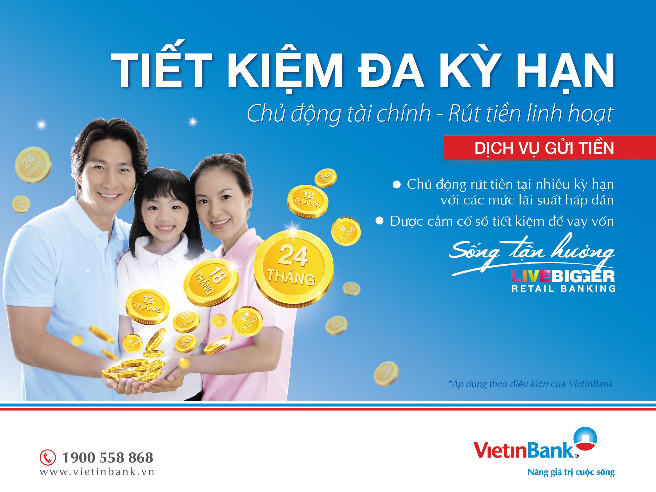 """Poster chính thức của chương trình """"Tiết kiệm đa kỳ hạn"""" VietinBank."""