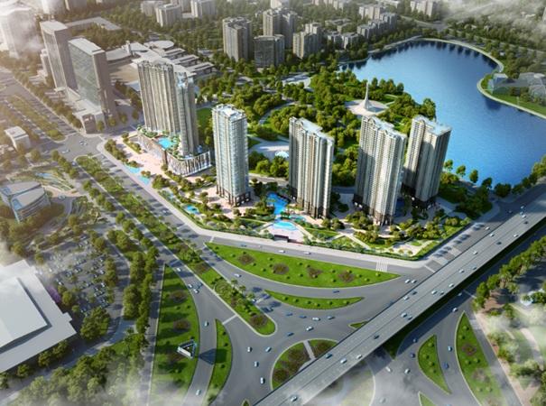 D'.Capitale bao gồm 6 tòa tháp trên diện tích hơn 50.000m2, ôm trọn 3 mặt đường lớn là Trần Duy Hưng, Hoàng Minh Giám và Khuất Duy Tiến.