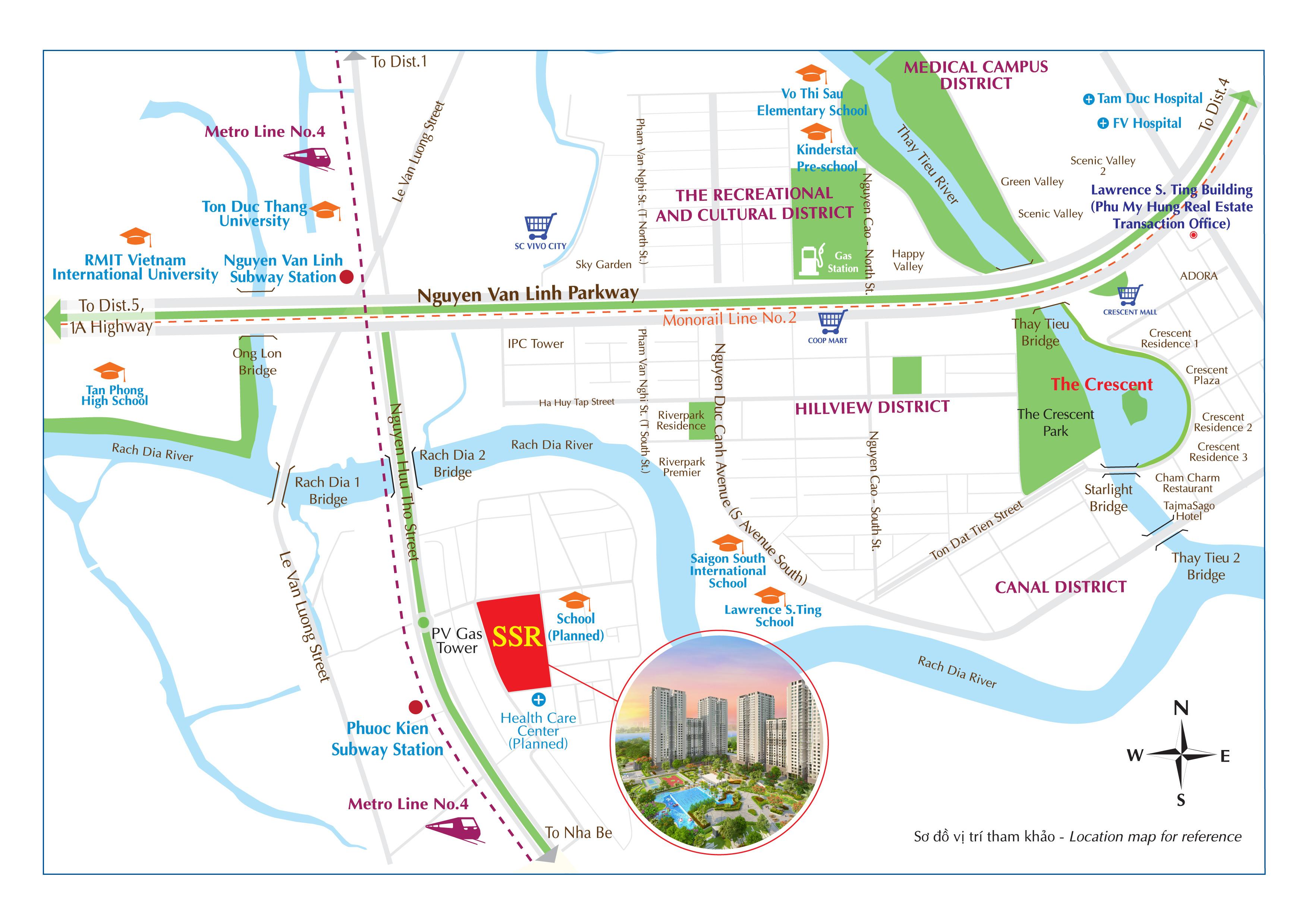 Saigon South Residences được giao nhà vào cuối năm 2019 là thời điểm nhiều công trình hạ tầng xung quanh dự án hoàn tất, tạo đòn bẩy gia tăng giá trị đáng kì vọng cho người mua.
