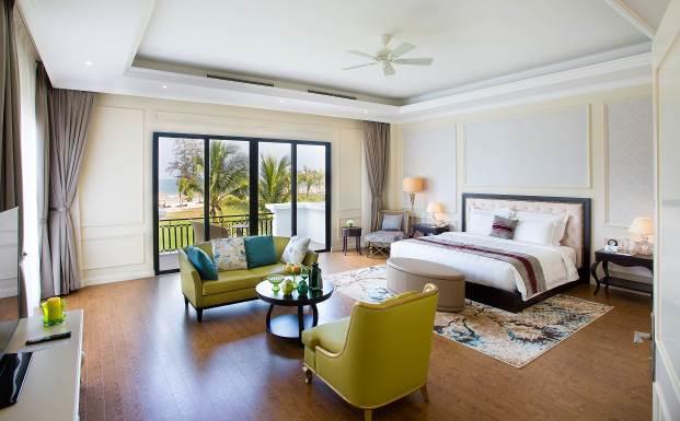 Công suất phòng cao tại các khu nghỉ dưỡng của Vinpearl đã tạo uy tín với các nhà đầu tư biệt thự nghỉ dưỡng Vingroup.