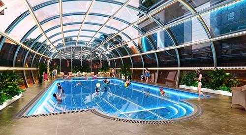 Phối cảnh bể bơi ngay trung tâm dự án Vietduc Complex – 99 Lê Văn Lương.