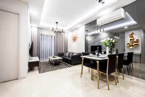 Các căn hộ từ 1-3 phòng ngủ với diện tích 57-122m2 đều sở hữu thiết kế tối ưu, đảm bảo không gian sinh hoạt chung cho cả gia đình cũng như không gian riêng tư cho từng thành viên.