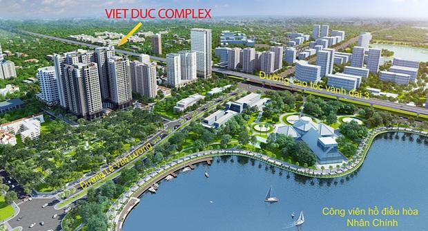 Vietduc Complex thuận tiện kết nối giao thông trên các trục đường lớn.