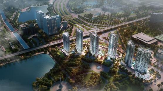 D'.Capitale sở hữu 3 mặt tiếp giáp 3 tuyến đường lớn: Trần Duy Hưng, Khuất Duy Tiến, Hoàng Minh Giám và liền kề công viên, hồ điều hòa Trung Hòa – Nhân Chính rộng 13ha.
