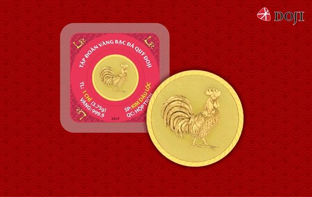 Đồng vàng 999.9 Kim Dậu làm nóng thị trường quà Tết