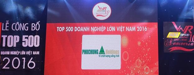 Phục Hưng Holdings được bình chọn vào Bảng xếp hạng VNR500 Top Doanh nghiệp tư nhân lớn nhất Việt Nam