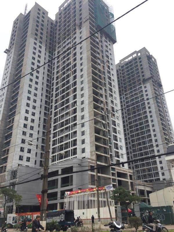 Khu cao tầng dự án Goldsilk cũng đang hoàn thiện các hạng mục cuối cùng.