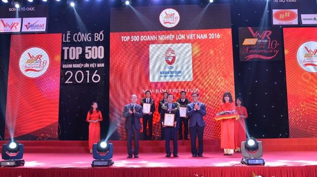 SCB đạt top 9 doanh nghiệp tư nhân lớn nhất và top 44 doanh nghiệp lớn nhất Việt Nam