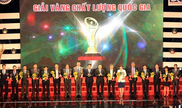 Công ty CP Long Hậu vinh dự nhận Giải Vàng Chất lượng Quốc gia năm 2016