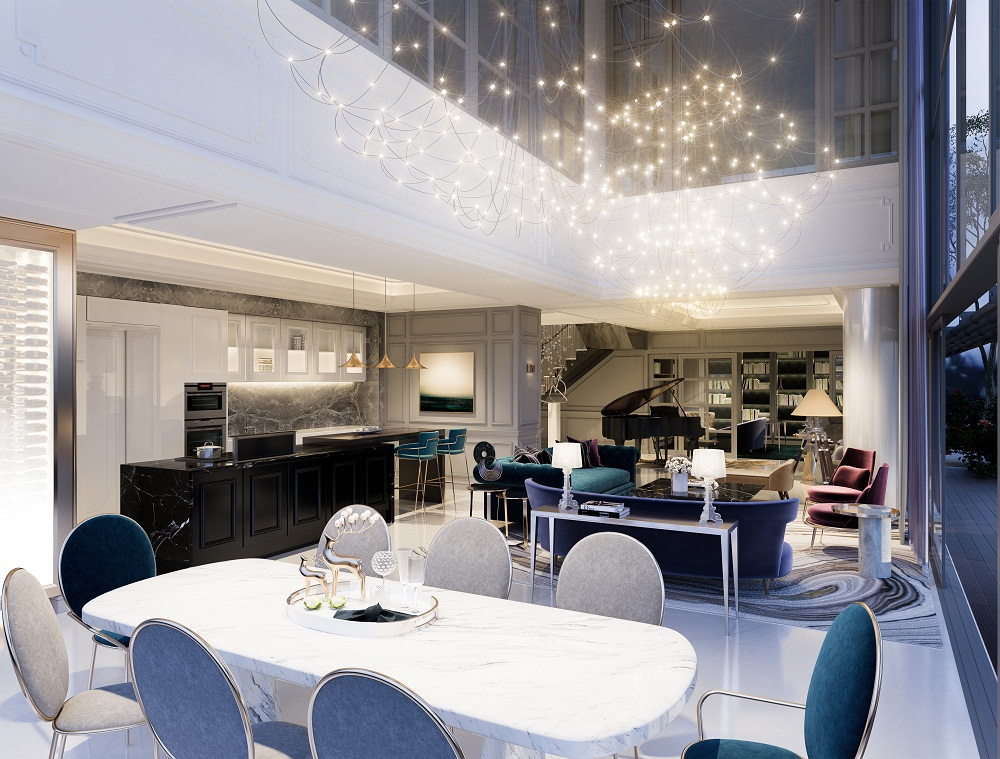 Phong cách thiết kế đặc sắc của Kaze được thể hiện rõ nét tại các căn Villa.