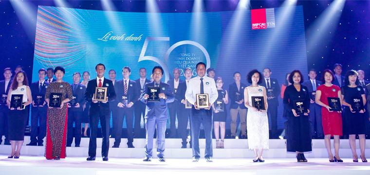 PNJ được vinh danh top 50 công ty kinh doanh hiệu quả nhất Việt Nam năm 2016