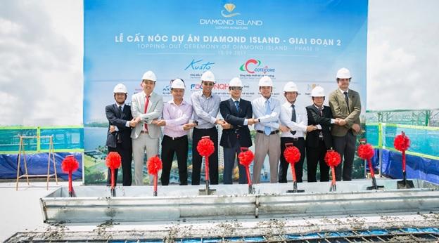 Diamond Island giai đoạn 2 chính thức cất nóc và hoàn thiện phần thô