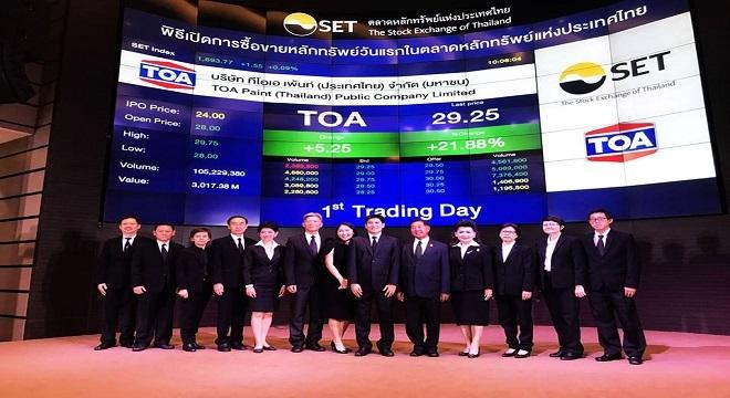 Sau phiên IPO, Sơn TOA có trăm triệu USD
